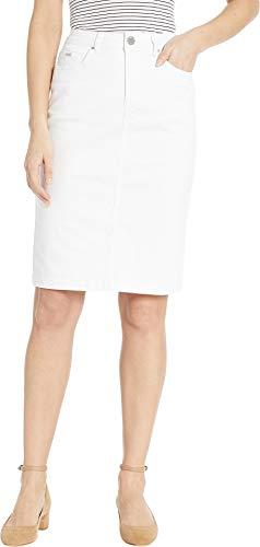 FDJ French Dressing Jeans Women's Soft Hues Denim Skirt in White White 16