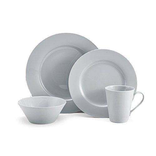 Mikasa 5218375 Delray Dinnerware Set (Service For 4), Grey