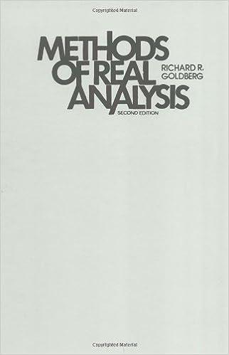Methods Of Real Analysis Goldberg Richard R 9780471310655