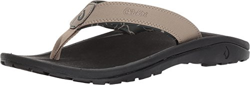 - OLUKAI Men's Ohana Clay/Black 7 D US D (M)