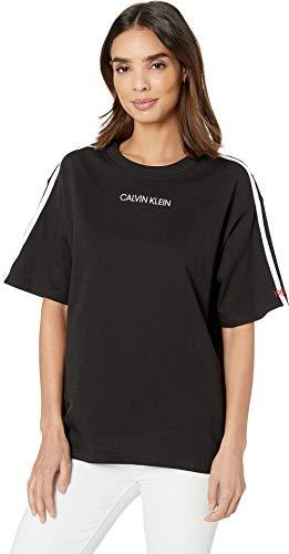 Calvin Klein Underwear Women's Statement Lounge Short Sleeve Crew Neck T-Shirt Black ()