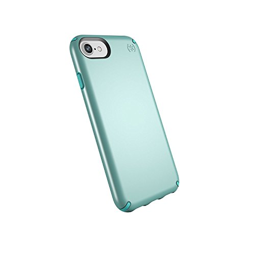 (Speck Products Presidio Metallic Case for iPhone 8 (Also Fits 7/6S/6), Peppermint Green Metallic/Jewel Teal)