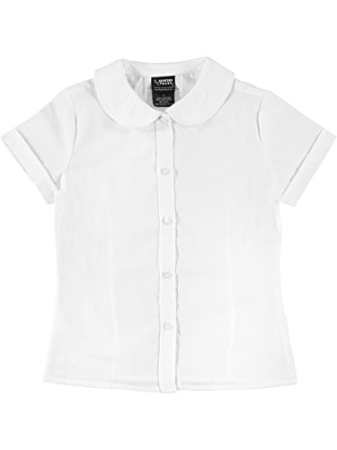 French Toast Big Girls' Plus S/S Peter Pan Fitted Shirt - white, 18.5 -