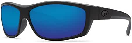 95dc773dfe491 Amazon.com  Costa Del Mar Saltbreak 580G Polarized Sunglasses in Blackout   Blue  Mirror Lens  Clothing