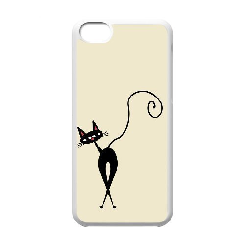 Custom Colorful Case With Iphone 5C, Cute Cats Cover Case - HL-R634537