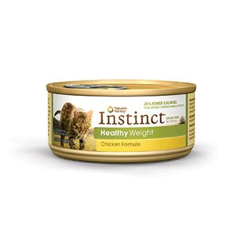 Nature's Variety Instinct Grain-Free Healthy Weight Chicken Canned Cat Food, 5.5 oz., Case of 12