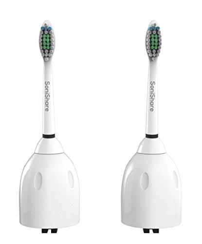 Têtes de brosse à dents de rechange SoniShare Premium pour Philips Philips Sonicare E-Series, 2 Pack Standard, avancement, CleanCare, Essence de l'élite, Xtreme brosse gère