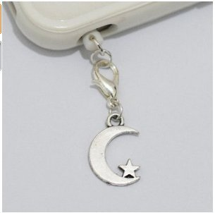 Roll over image to zoom in Silver Moon Star Cell Phone Charm, Moon Star Dust Plug-3.5mm, Unique Cell Phone Charm, Headphone Jack Charm ,Silver Phone Charm Dust Plug,charm Dust Plug for Iphone 3,iphone4,iphone 4s ,Iphone 5,iphone 5s,iphone 6, Samsung S3,samsung S4, Samsung S5 ,Note 2,note 3, Ipad 2,ipad 3,ipad 4,ipad 5 Nokia,htc One M7, Ipad Mini Dust Plug