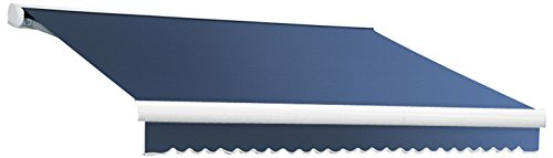 UPC 731478860598, Awntech 12-Feet Key West Manual Retractable Awning, 120-Inch Projection, Dusty Blue