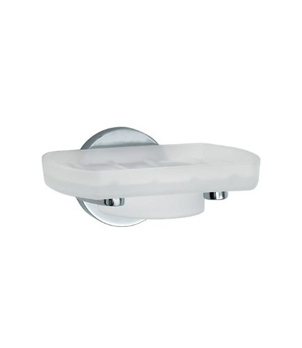 Smedbo LOFT Holder with Soap Dish LK342 Polished Chrome .Include Glue.Fixing Without Drilling
