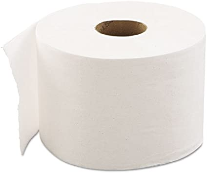 PPC Toilet Rolls Quilted Embossed 2Ply White Bathroom Tissue Wipe Paper Roll