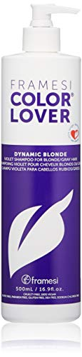 Framesi Color Lover Dynamic Blonde Violet Shampoo, 16.9 fl oz, Sulfate Free Shampoo, Color Treated Hair