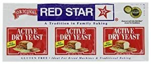 Red Star Active Dry Yeast Non GMO 1.4 Oz. Pack Of 3. by Red Star