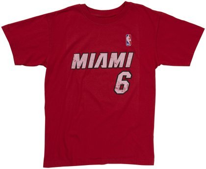 Adidas Youth NBA Miami Heat LeBron James Super Soft Tee, 10/12 - Medium by adidas