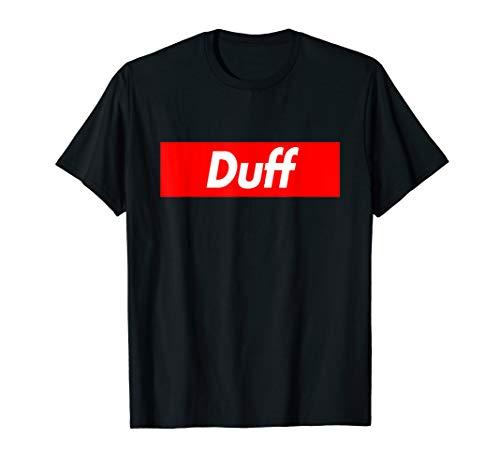 Duff Name Funny Red Box Logo T-Shirt -