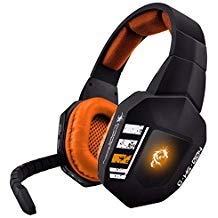 Dragonwar G-HS-004 Aegis Headphone Wireless 2.4 GHZ Game Gaming Headset with Noise Canceling Mic for - 7.1 Grains