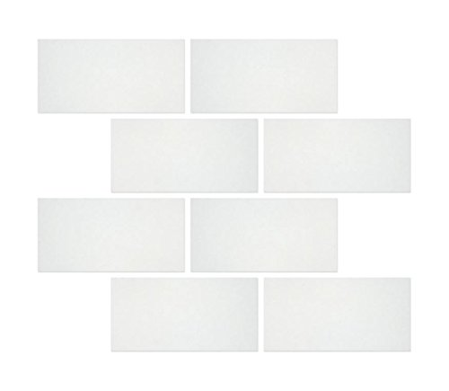 Thassos White Greek Marble 3 X 6 Subway Brick Tile, (Limestone Mosaic Tile)
