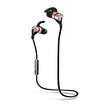 LIUYULIN Auricular Bluetooth Auriculares Inalámbricos Cuello Oído Auricular Auricular Auriculares De Oído Cuello Auricular. La Rosa De Oro: Amazon.es: ...
