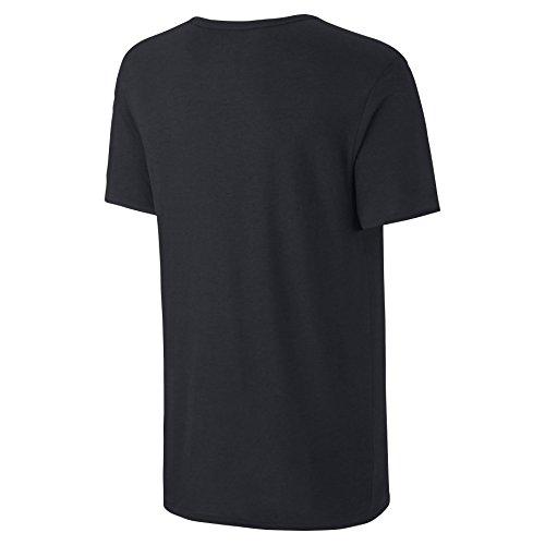 T-shirt Nike Snake QT S + AM nera / blu 717349-010 (TAGLIA: L)