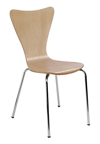 Kids Desk Chair - Children, Toddler Room Modern Furniture - Sturdy Bent Plywood Seat (Natural) by Simple Living Products (Image #1)