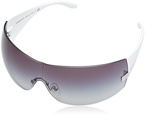 New Authentic VERSACE SUNGLASSES White Frame 2054 1000/8G Dark Gray Gradient Size: - Versace New