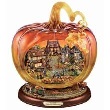 Thomas Kinkade Art Glass Pumpkin