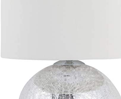 Modern Cortez Chrome Crackle Glass