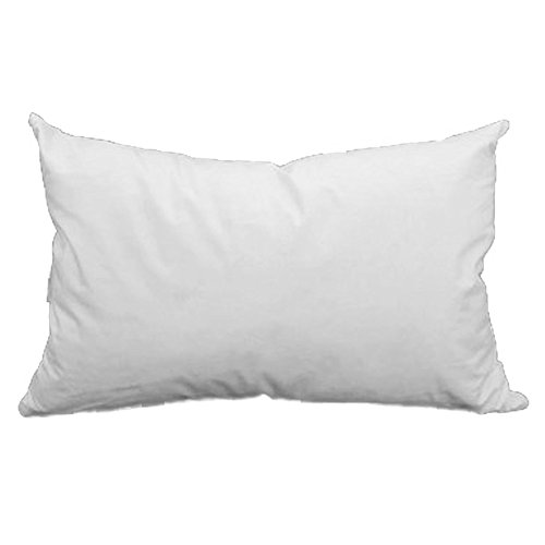 Discover Bargain 12 x 20 Pillow Form White Cotton/Polyester