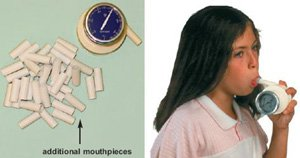 addition mouthpieces for Buhl spirometer (1000 pieces) disposable cardboard by Baseline