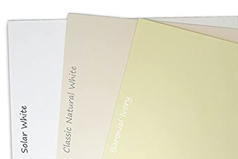 Blank Classic Crest 80 lb Natural White 4x6 Flat Card Invitations - 50 Pack - Classic Crest Envelope Natural