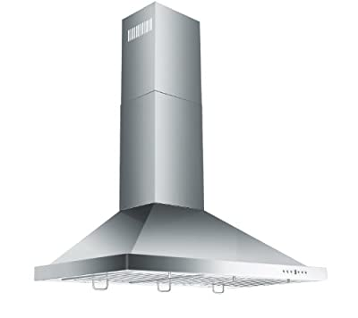 Z Line KB-36-LED Stainless Steel Wall Mount Range Hood, 36-Inch