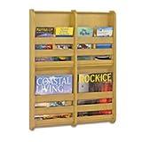 Safco Products 4623NA Bamboo Magazine Wall Rack, 4 Pocket, Natural