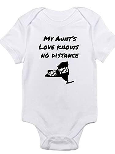 My Aunts love knows no distance Shirt Gerber Aunt Mimi Titi Uncle onesie New York state bodysuit