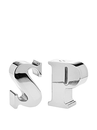 Godinger Letters S & P Salt & Pepper Shakers