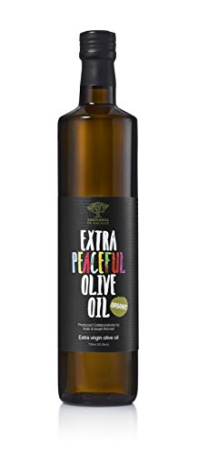 Organic Extra Virgin Olive Oil – Extra Peaceful Cold Pressed Mediterranean Olive Oil – Fair Trade, Non GMO, Kosher EVOO Cooking Oil – Top 100 Olive Oils in the World, 25.3oz