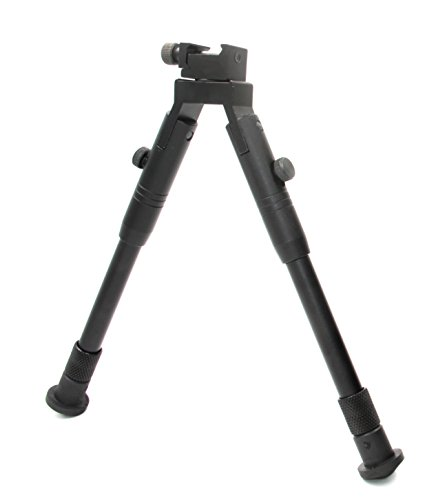 JINSE Tactical Bipod Picatinny Rail Swivel Foldable Rubber Feet Center Height 9