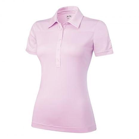 adidas Climalite Micro Stripe Bloque Polo Mujer Rosa: Amazon.es ...