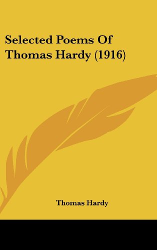 Selected Poems Of Thomas Hardy (1916)