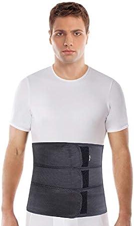 cinturón abdominal de sujeción; sujeción de espalda; banda de sujeción abdominal; banda de sujeción del vientre; 31cm de altura Small Negro