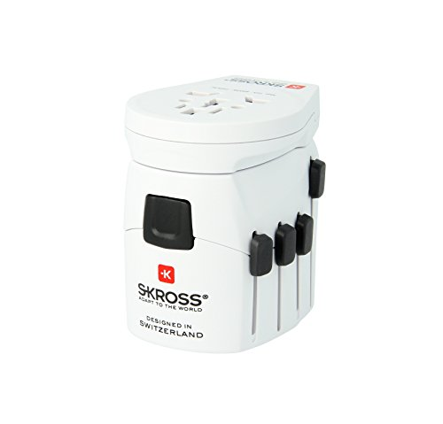 Skross Pro-World & USB Travel Adaptor, White