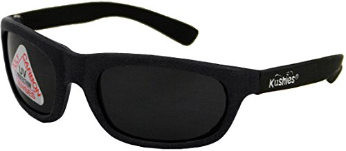 Kushies Sunglasses 100% UV Lens Block (Toddler, Black)