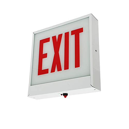 LFI Lights - UL Certified - Hardwired Red LED Chicago Approved Exit Sign - Battery Backup - Emergency Fire Safety - UL924 - CHEX