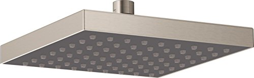 - Delta Faucet Single-Spray Touch-Clean Rain Shower Head, Stainless 52841-SS