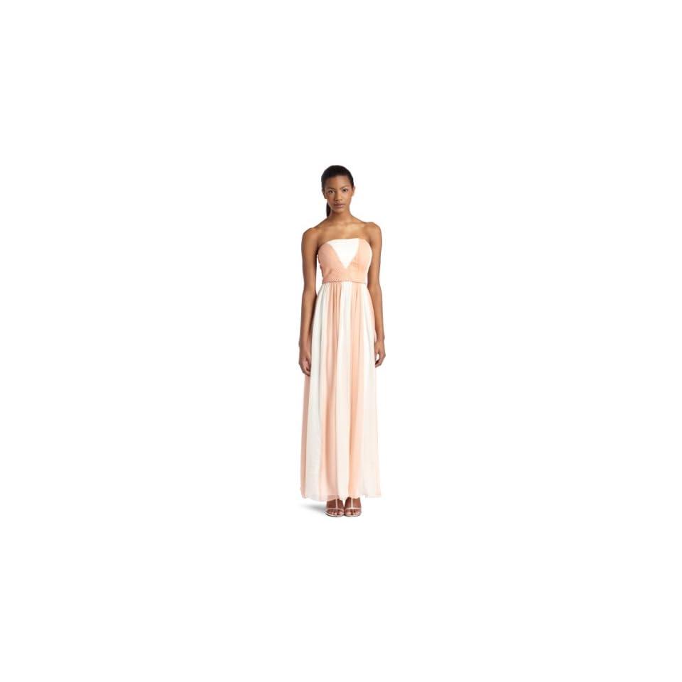 Aryn K Womens Colorblock Maxi Dress