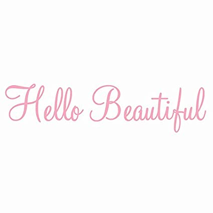 hello beautiful wall decal inspirational quotes beauty mirror stickers 2 version vwaq 1656