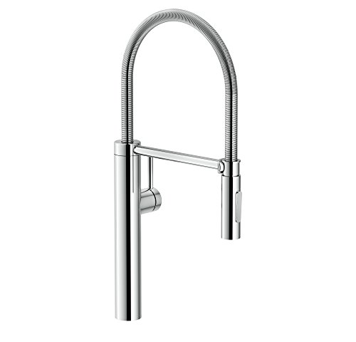 Franke FFPD4300 Pescara Single Handle Pull-Down Kitchen Faucet, 21.625 inch Ultra-Tall high arc, Polished Chrome ()
