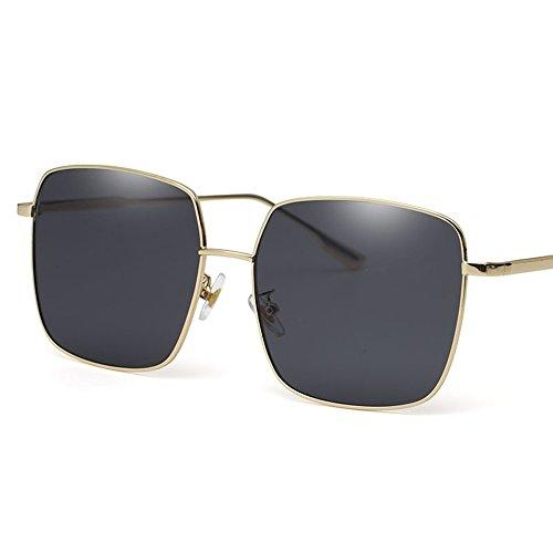 hommes MAHZONG Lunettes de lunettes pour soleil de Couleur de Noir soleil carrées Sunglasses couple soleil de Noir vintage lunettes conduite wwxrv