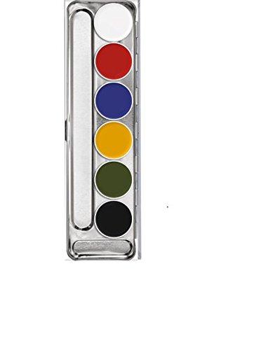 (Kryolan Supracolor Makeup Palette 6 Colors 1007 Color: A )