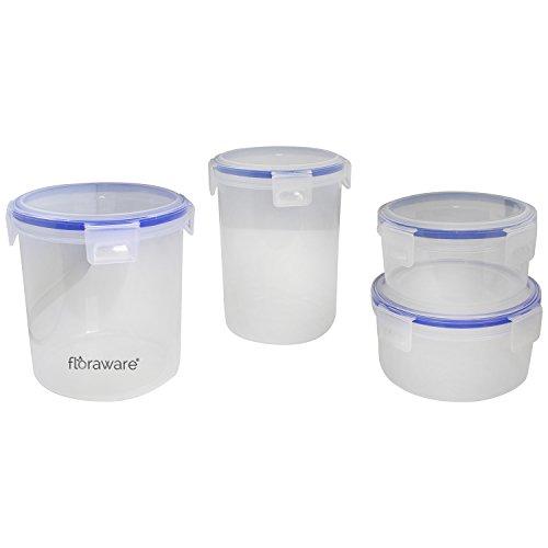 Floraware 4-Piece Kitchen Box Set, White Blue