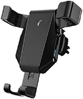 車の電話ホルダー、カーナビゲーションブラケットアウトレットナビゲーターユニバーサルブラケット重力 (色 : ブラック)